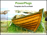 PowerPoint Template - a classic wooden boat