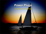 PowerPoint Template - Sailboat getting ready to drop anchor for the night.