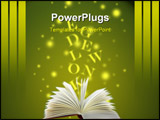 PowerPoint Template - A beam of light shines out from an open book