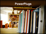 PowerPoint Template - books on shelves