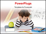 PowerPoint Template - adorable boy studying