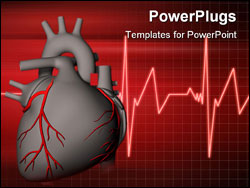 PowerPoint Template - Digital illustration of heart in color background