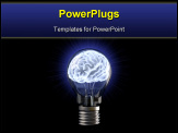 PowerPoint Template - brains in the light bulb. isolated on white