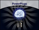 PowerPoint Template - brains in the light bulb. isolated on white.
