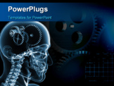 PowerPoint Template - the concept of the functioning of the human body and the brain