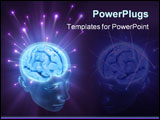 PowerPoint Template - Balls of energy jump out the brain.