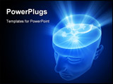 PowerPoint Template - Neuron inside of the head