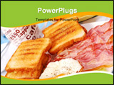 PowerPoint Template - bacon, eggs and toasts for English breakfast