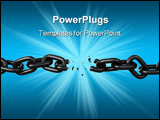 PowerPoint Template - Chain link shattering. Design element and metaphor for many ideas.