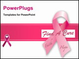 PowerPoint Template - Ribbon for a cure for breast cancer awareness