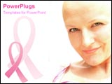 PowerPoint Template - Breast cancer survivor smiles happily.