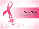 PowerPoint Template - illustration of fight against breast cancer awareness pink ribbon