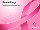 PowerPoint Template - Pink ribbon; can be used for background; breast cancer awareness and support
