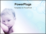 PowerPoint Template - A toddler baby boy breastfeeding. Good for background