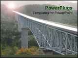 PowerPoint Template - Beautiful steel-structured bridge on the way to Mount St Helen Washington.