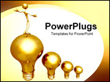 PowerPoint Template - Bulb showing bright idea