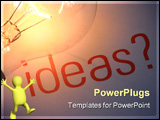 PowerPoint Template - ideas with lightbulb. It
