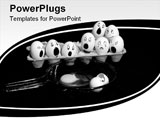 PowerPoint Template - Creative eggs with upset faces over a broken one in frying pan