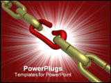 PowerPoint Template - thr hanging chain. the 3D isolated image.