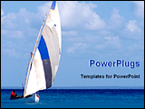 PowerPoint Template - a boat in the sea