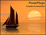 PowerPoint Template - a close view of a boat in sunset