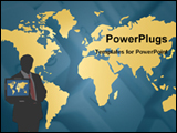 PowerPoint Template - man with laptop beside map