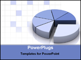 PowerPoint Template - pie chart statistics