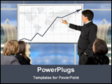PowerPoint Template - showing business growth in a conference
