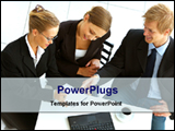 PowerPoint Template - 3 persons meet for business deal