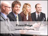 PowerPoint Template - corporate executives in a business meeting