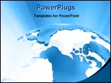 PowerPoint Template - ray coming out from globe