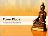 PowerPoint Template - Ancient Yoga, spiritual, Yoga Mudra,Dhyan Mudra