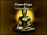 PowerPoint Template - Buddha sitting