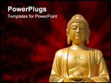PowerPoint Template - Buddha Statue at temple in Xian China