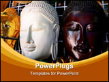 PowerPoint Template - The Wooden Mask Of Buddha in Thailand
