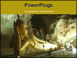 PowerPoint Template - A reclining Buddha in a cave near Phang Nga in Thailand
