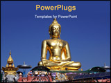 PowerPoint Template - Buddha and the point of Golden triangle in thailand