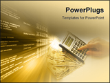 PowerPoint Template - calculating over a fan of money