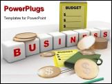 PowerPoint Template - computer rendered image of budget and business