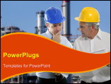 PowerPoint Template - architect engineer expertise team plan talking hardhat petrol industry