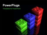 PowerPoint Template - building blocks on a black background