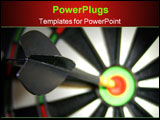 PowerPoint Template - dart hitting bullseye macro up-close shot