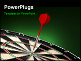 PowerPoint Template - Dart sticks to bulls eye on a dart board