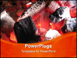 PowerPoint Template - barbaque coal glowing