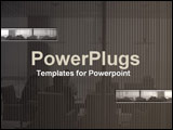 PowerPoint Template - Collage in gray of an intense business/board meeti