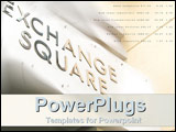 PowerPoint Template - Sharp Exchange Square building with indices