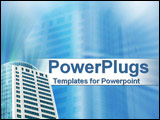PowerPoint Template - Smart high rise building on blue