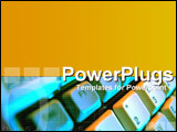 PowerPoint Template - Digital business with keyboard montage