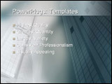 PowerPoint Template - Sharp angled buildings in the CBD