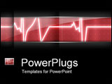 PowerPoint Template - Heart monitor.
